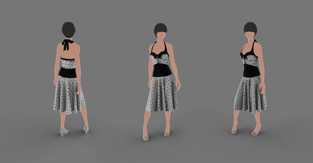 Female_Dress_Polkaskull_bowtied_w.character_3angles_02_s